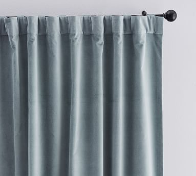 Velvet Twill Rod Pocket Curtain Ivory In 2020 Curtains Linen Blackout Curtains Affordable Area Rugs