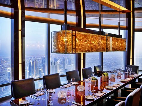 At Mosphere Grill Location 122nd Floor Of Burj Khalifa