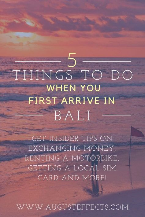 Headed on a trip to Bali soon? Then make sure to check out our blog on the 5 things to do when you first arrive in Bali! We give you insider tips on exchanging money, renting a motorbike, getting a local sim card for your phone and more. Start your trip