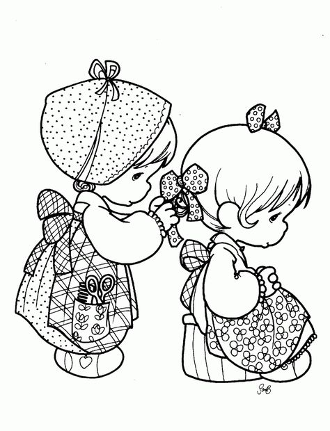 Pin by Sea Puddles on Coloring Pages | Pinterest | Precious moments ...