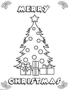 Hello There Enjoy This Free Christmas Color Page Thank You Graphics By Jqprintshop Christmas Tree Coloring Page Merry Christmas Coloring Pages Christmas Colors