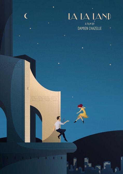 La La Land illustrated poster by @lyz.designs Lisa Mazzei