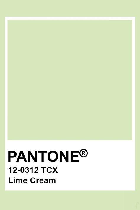 Pantone Lime Cream