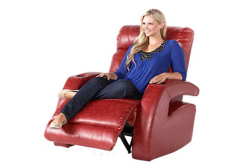 Shop for a Symon Circle Red Blended Leather Recliner at Rooms To Go. Find Recliners that will look great in your home and complement the rest of you2026  sc 1 st  Pinterest & Shop for a Symon Circle Red Blended Leather Recliner at Rooms To ... islam-shia.org