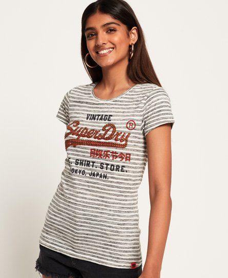 Superdry Shirt Shop T Shirt Mit Streifen Bekleidung Frauen T Shirts Damen Bekleidung