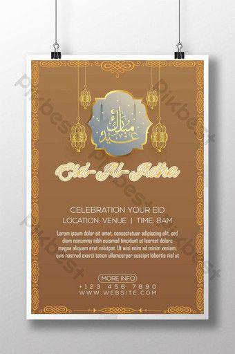 Golden Style Eid Al Adha Poster Ai Free Download Pikbest Invitation Card Design Invitation Card Format Flyer Design Templates