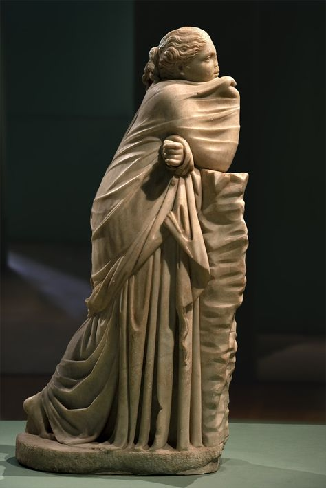 Statue of a Muse (Polimnia?). Parian marble. 2nd cent. BCE. Inv. No. III.17. Rome, Capitoline Museums, Museum Montemartini (Centrale Montemartini).
