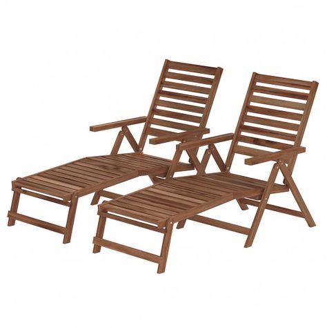 Liegestuhl Mimo Ii 2er Set Gartenliege Sonnenliege Mit Dach