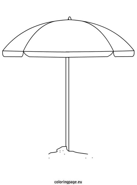 Beach Umbrella Coloring Sheet Beach Umbrella Umbrella Coloring