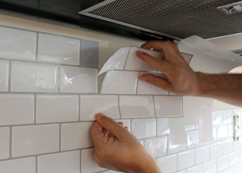 New Peel and Stick Subway Tile Backsplash — Tag & Tibby