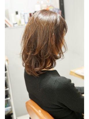 新宿20代30代40代50代ひし形くびれcカーブカット小顔前髪外ハネ ヘアスタイリング ヘアスタイル 髪型