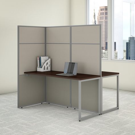 Bush Business Furniture Easy Office 60w 2 Person Cubicle Desk