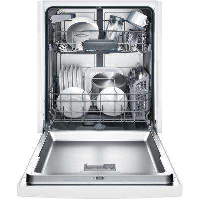 100 Series Front Control Tall Tub Dishwasher In White With Hybrid Stainless Steel Tub And Utility Rack 50dba Steel Tub Built In Dishwasher Black Dishwasher