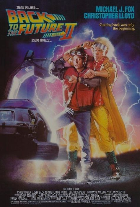 Back to the Future II Poster Marty & Doc Looking at Watches. Various Sizes Available. - 35x50cm