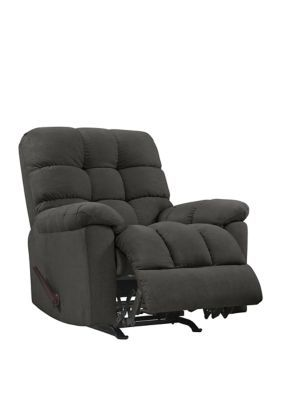 Prolounger Prolounger Rocker Recliner Chair In Dark Gray Plush Low Pile Velvet Charcoal Gray In 2020 Recliner Chair Rocker Recliner Chair