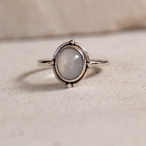 Simple moonstone ring jewelry Bohemian by DonBiuSilver on Etsy ring boho fashion for teens vintage wedding couple schmuck verlobung hochzeit ring