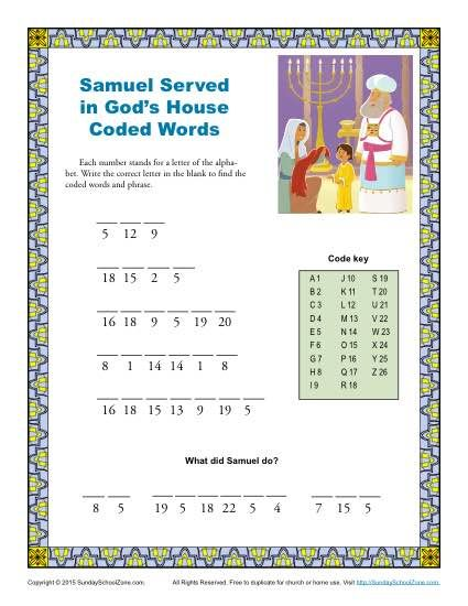 Free, Printable Bible Activities for Children | The Sunday School ...