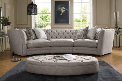 Cristiana Sofology Curved Sofa Family Room Sofa Comfy Sofa