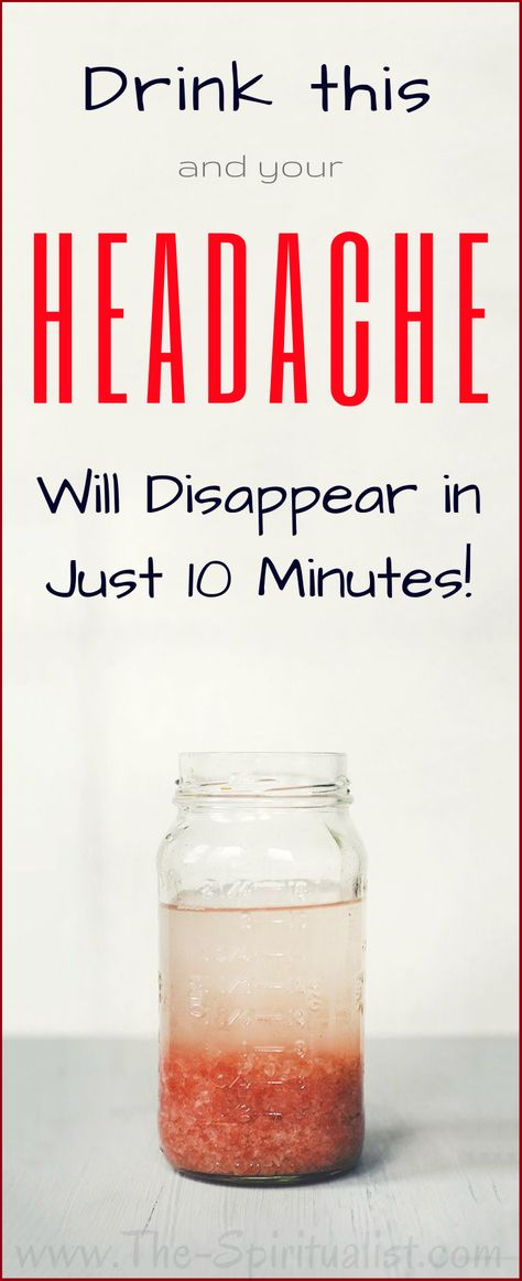 Drink this WATER and your migraine will disappear in just 10 minutes. (Natural and Effective!)