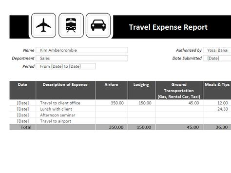 Travel Expense Report Template Templates I Love Pinterest - expense templates