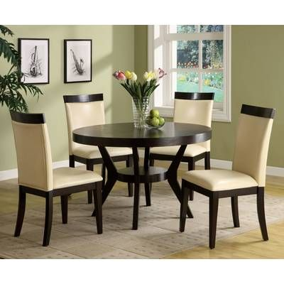 Connor 5 Piece Dining Set Round Dining Table Sets Transitional
