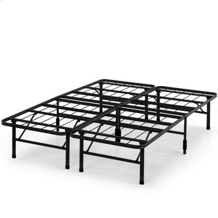 Spa Sensations By Zinus Steel Smartbase Bed Frame Black Twin