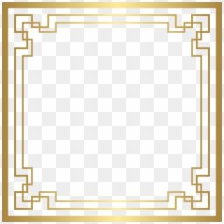 Great Gatsby Border Png Art Deco Gold Frame Transparent Png Gold Frame Art Deco Deco