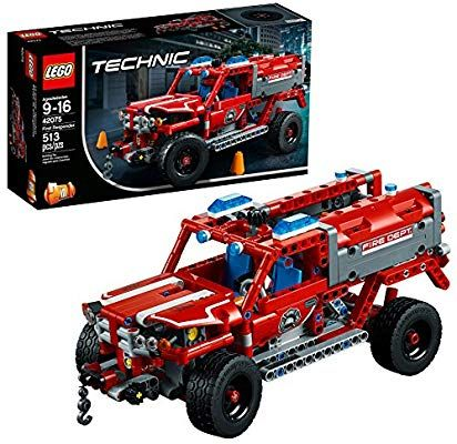 Amazon Com Lego Technic First Responder 42075 Building Kit 513 Pieces Toys Games Lego Technic Lego Toy Fire Trucks