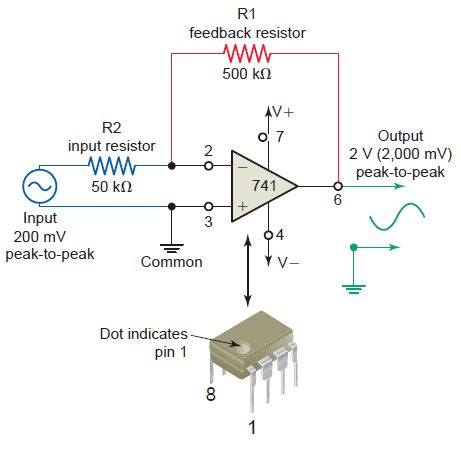 741 Op-Amp Voltage Amplifier Circuit | EEE COMMUNITY | Electronics