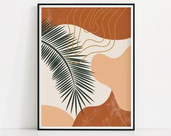 Random Shapes Art Print Minimal Abstract Wall Art Blobs Of Color Poster Leaves Pattern Print Printable Modern Art Leaves Poster Modern Art Printables Shape Art Abstract