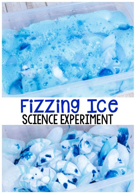 A Fun Twist On A Classic: Fizzing Ice Science Experiment