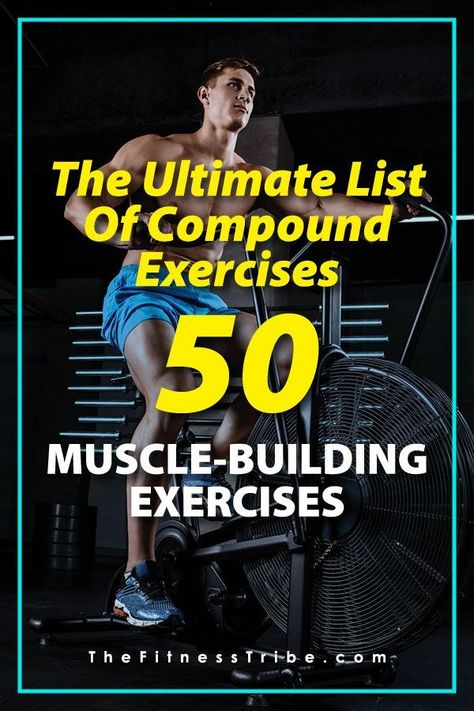 The Ultimate List of Compound Exercises | The complete guide to muscle-building. - The Fitness Tribe #compoundexercises #fitness