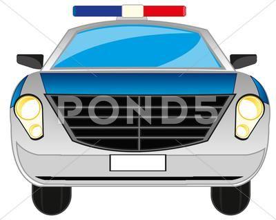 Cartoon Police Car Stock Illustration Ad Police Cartoon Car