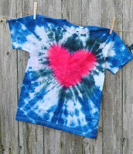 Tie Dye Heart Shirt   Tie dye heart, Fabrics and Craft