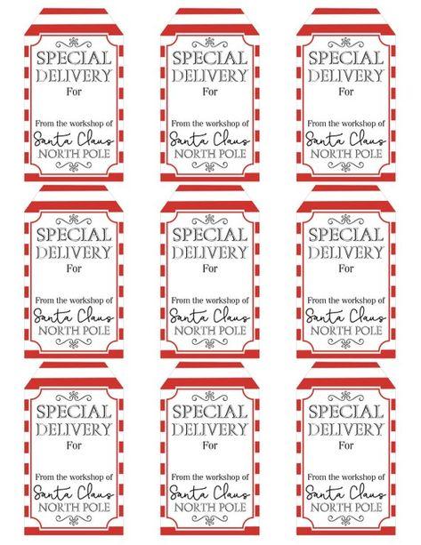 Printable Santa Gift Tags - From Santa Tags - Holiday Gift Tags For Kids - DIY Christmas Gift Tags -