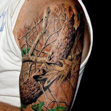 Camo Tattoo Designs And Ideas-Camo Themed Tattoos for Shane