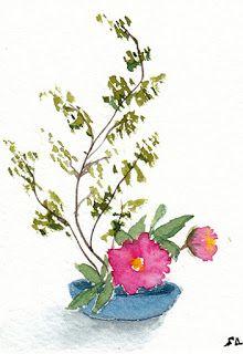 Ikebana Inspired 4 Ikebana Aquarelle