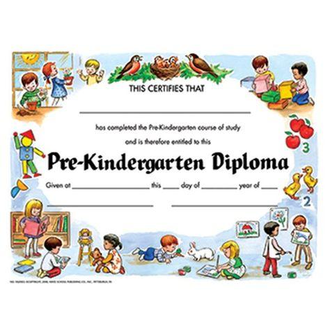 Hayes School Publishing Pre-kindergarten Diploma Certificate (Set of