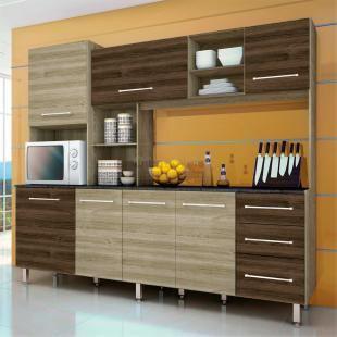Cozinha Compacta Orquidea Ii Anis Touch Ebano Touch Irmol