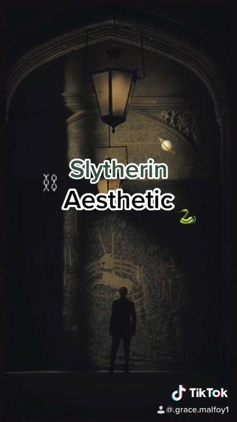 Slytherin Aesthetic on TikTok @.grace.malfoy1