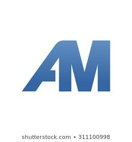 Am Letter Logo Connected Logo Images Logos Logos Design