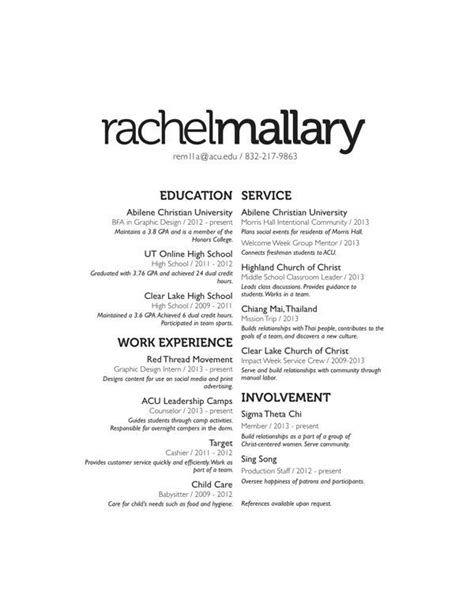 order of resume headings