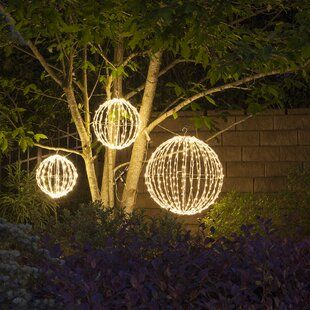 The Holiday Aisle Starburst Branches Lighting On Stakes Wayfair In 2020 With Images Outdoor Christmas Lights Ball Lights Christmas Lights