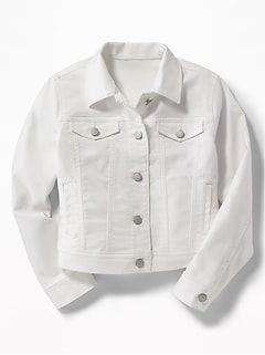 Girls Americana Old Navy Womens White Jeans White Jean Jacket White Denim Jacket