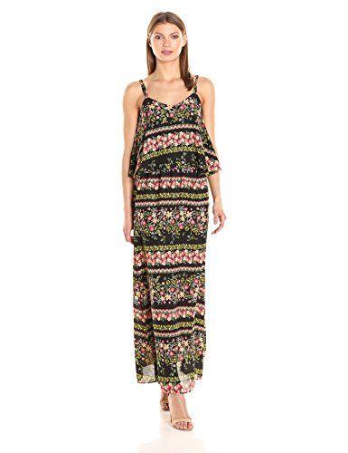 Jack by BB Dakota Womens Dixon Elysian Printed Maxi Dress