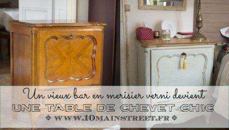 Patine A La Cire Doree Sur Chalk Paint Action Conclusion Sur Le Chevet Relooking De Mobilier Table De Chevet Et Mobilier De Salon
