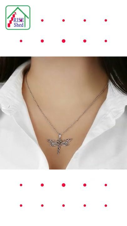 Imagine the joy on your loved one's face when she sees this artistic Dragonfly Necklace! Dragonflies are amazing creatures. They are strong, swift, and can adapt to changes effortlessly. Give this empowering and elegant necklace to your daughter, or yourself, to be reminded of the amazing shared qualities of the Dragonfly. This beautifully styled Dragonfly pendant is crafted from polished stainless steel and finished with a rose gold heart. A lovely piece that is sure to enhance any outfit.