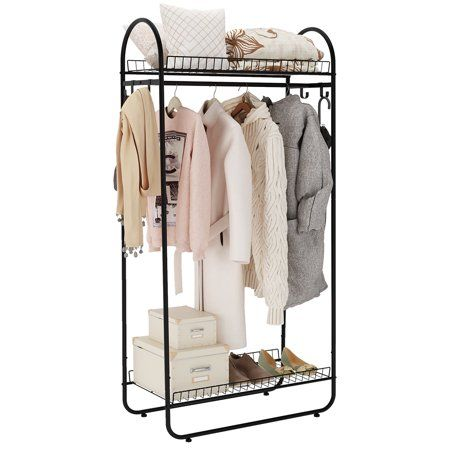 Home In 2020 Storage Spaces Garment Racks Standing Clothes Rack