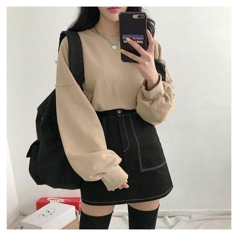 skirt outfits korean