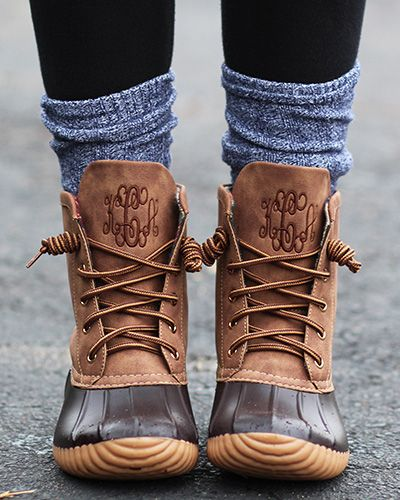 Customize Monogrammed Duck Boots for